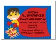 Superhero Boy - Birthday Party Petite Invitations thumbnail