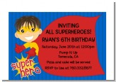 Superhero Boy - Birthday Party Petite Invitations