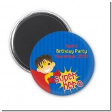 Superhero Boy - Personalized Birthday Party Magnet Favors