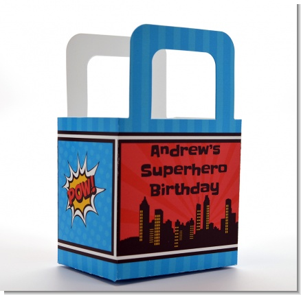 Calling All Superheroes - Personalized Birthday Party Favor Boxes