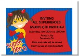 Superhero Girl - Birthday Party Petite Invitations