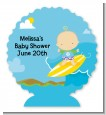 Surf Boy - Personalized Baby Shower Centerpiece Stand thumbnail