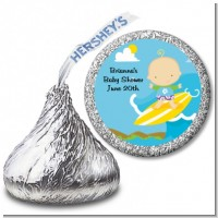 Surf Boy - Hershey Kiss Baby Shower Sticker Labels