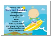 Surf Boy - Baby Shower Petite Invitations