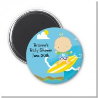 Surf Boy - Personalized Baby Shower Magnet Favors