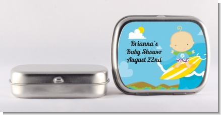 Surf Boy - Personalized Baby Shower Mint Tins