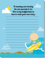 Surf Boy - Baby Shower Notes of Advice