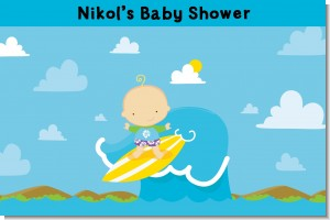 Surf Boy - Personalized Baby Shower Placemats