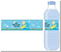 Surf Boy - Personalized Baby Shower Water Bottle Labels