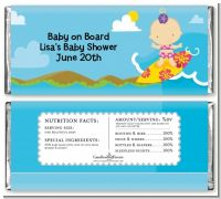 Surf Girl - Personalized Baby Shower Candy Bar Wrappers