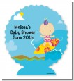 Surf Girl - Personalized Baby Shower Centerpiece Stand thumbnail