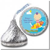 Surf Girl - Hershey Kiss Baby Shower Sticker Labels