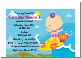 Surf Girl - Baby Shower Petite Invitations