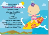 Surf Girl - Baby Shower Invitations