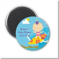Surf Girl - Personalized Baby Shower Magnet Favors