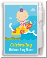 Surf Girl - Baby Shower Personalized Notebook Favor