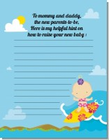 Surf Girl - Baby Shower Notes of Advice