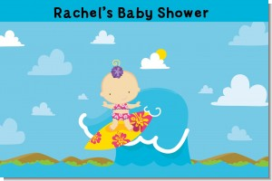 Surf Girl - Personalized Baby Shower Placemats