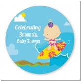 Surf Girl - Personalized Baby Shower Table Confetti