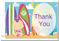 Surf Girl - Baby Shower Thank You Cards