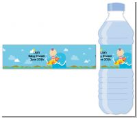Surf Girl - Personalized Baby Shower Water Bottle Labels