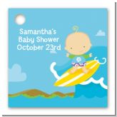 Surf Boy - Personalized Baby Shower Card Stock Favor Tags