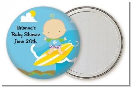 Surf Boy - Personalized Baby Shower Pocket Mirror Favors