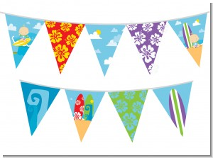 Surf Boy - Baby Shower Themed Pennant Set