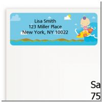 Surf Girl - Baby Shower Return Address Labels