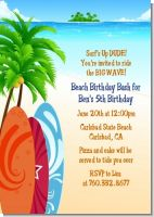 Surf's Up - Birthday Party Invitations