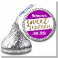 Sweet 16 - Hershey Kiss Birthday Party Sticker Labels thumbnail