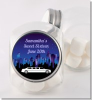 Sweet 16 Limo - Personalized Birthday Party Candy Jar