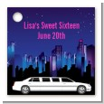 Sweet 16 Limo - Personalized Birthday Party Card Stock Favor Tags thumbnail