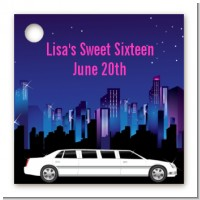 Sweet 16 Limo - Personalized Birthday Party Card Stock Favor Tags