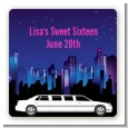 Sweet 16 Limo - Square Personalized Birthday Party Sticker Labels thumbnail