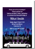 Sweet 16 Limo - Birthday Party Petite Invitations