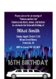 Sweet 16 Limo - Birthday Party Petite Invitations thumbnail
