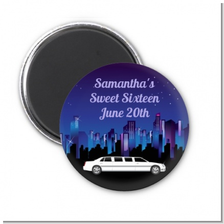 Sweet 16 Limo - Personalized Birthday Party Magnet Favors