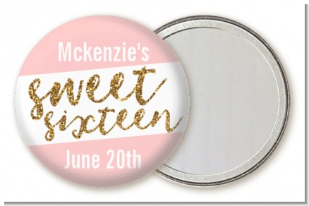 Sweet 16 - Personalized Birthday Party Pocket Mirror Favors
