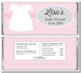 Sweet Little Lady - Personalized Baby Shower Candy Bar Wrappers