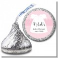 Sweet Little Lady - Hershey Kiss Baby Shower Sticker Labels thumbnail
