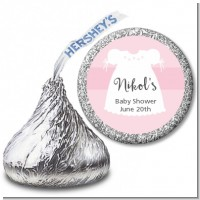 Sweet Little Lady - Hershey Kiss Baby Shower Sticker Labels