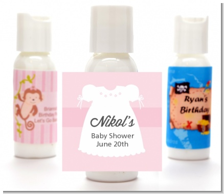 Sweet Little Lady - Personalized Baby Shower Lotion Favors