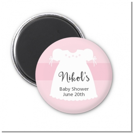 Sweet Little Lady - Personalized Baby Shower Magnet Favors