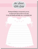 Sweet Little Lady - Baby Shower Notes of Advice