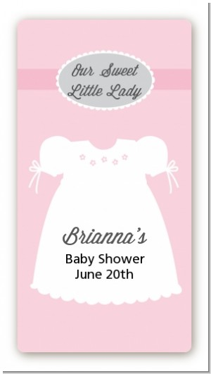 Sweet Little Lady - Custom Rectangle Baby Shower Sticker/Labels