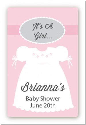 Sweet Little Lady - Custom Large Rectangle Baby Shower Sticker/Labels
