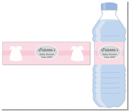 Sweet Little Lady - Personalized Baby Shower Water Bottle Labels