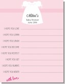Sweet Little Lady - Baby Shower Wishes For Baby Card