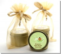 Sweet Pea African American Boy - Baby Shower Gold Tin Candle Favors